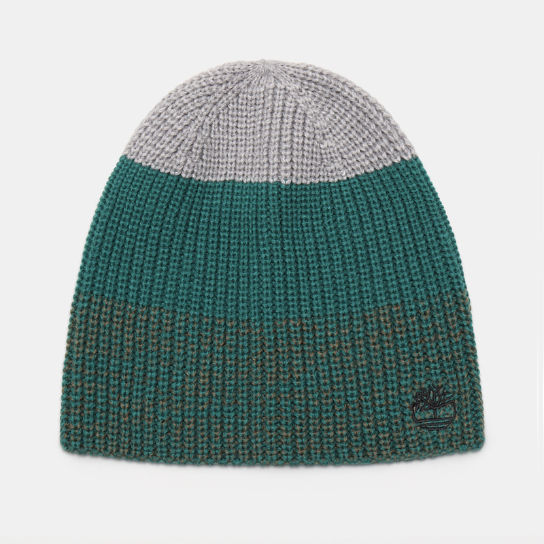 Colour Block Beanie for Men in Green | Timberland