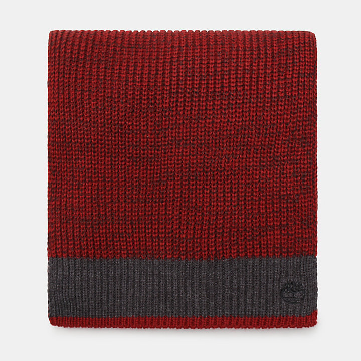 Farview Hill Colourblock Scarf for Men in Red-