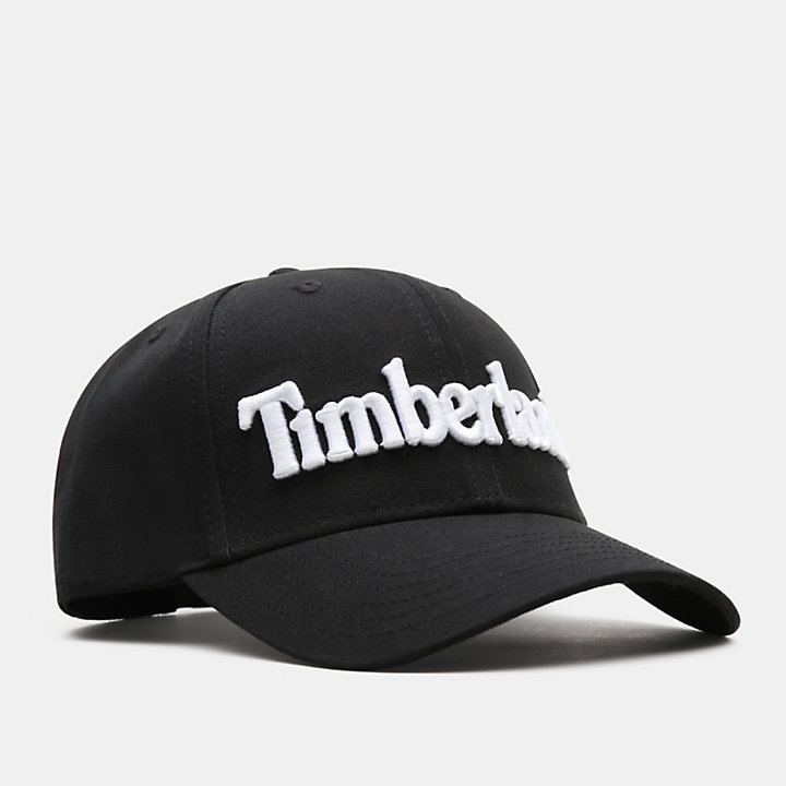 Logo Baseball Cap for Men in Black-