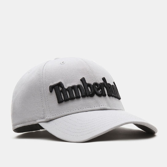 Logo Baseball Cap for Men in Light Grey | Timberland
