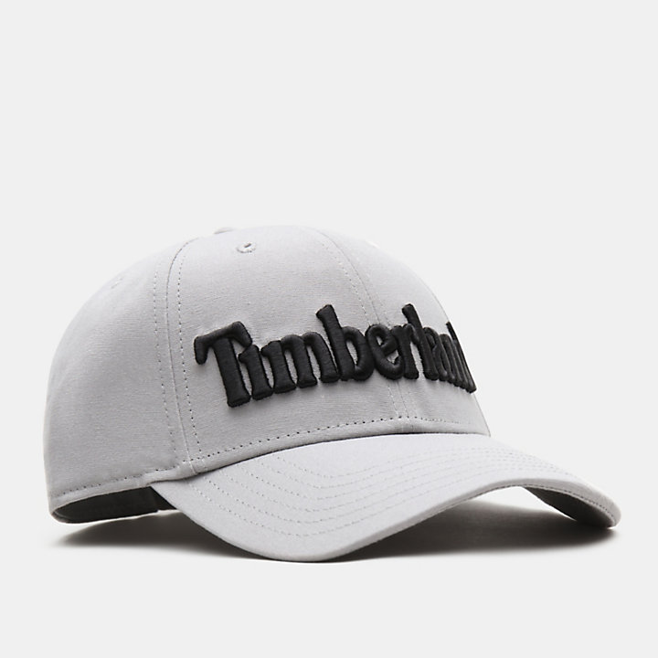 Logo Baseball Cap for Men in Light Grey-