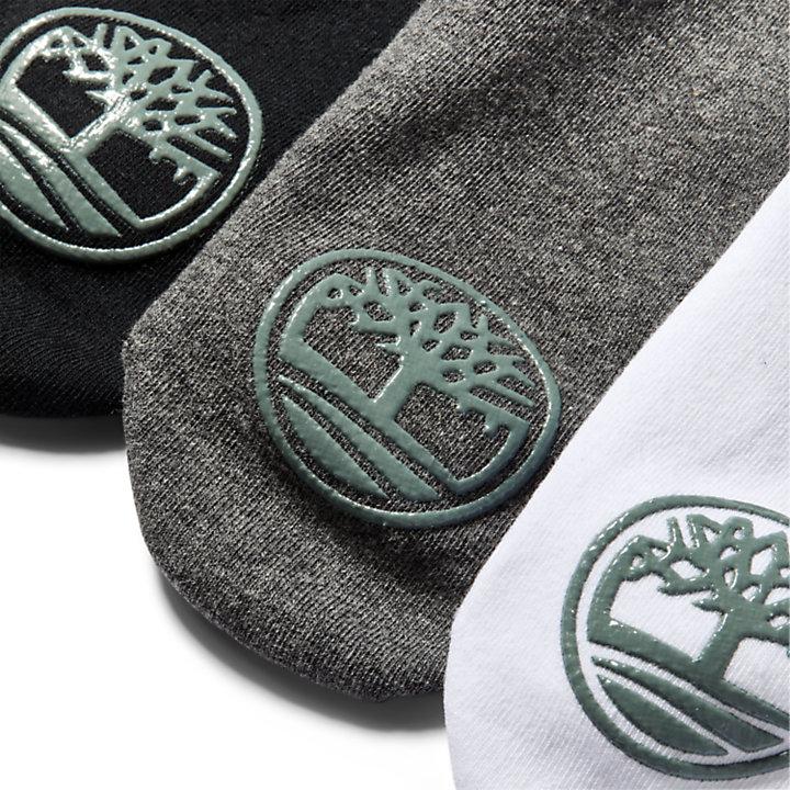 3 paires de socquettes pour homme en gris-