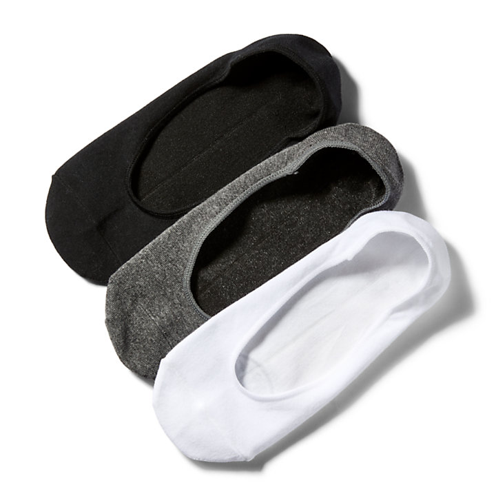 Three Pair Liner Socks for Men in Grey-