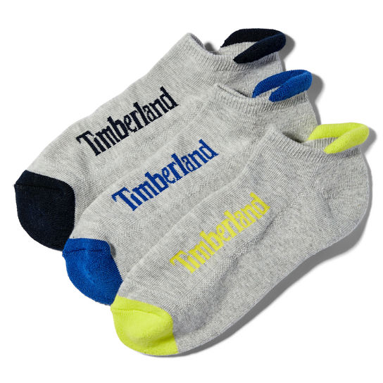 Three Pair NU Flyroam™ No-Show Socks for Men in Multicoloured | Timberland