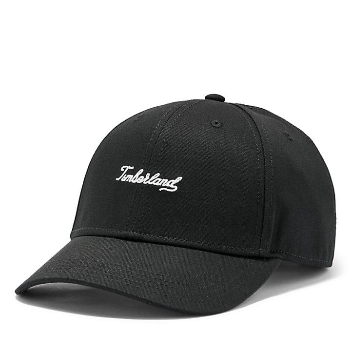 Timberland® Script Baseball Cap for Men in Black-