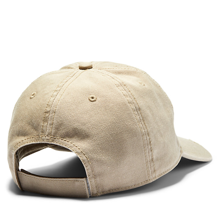 Tree Logo Baseball Cap for Men in Khaki-