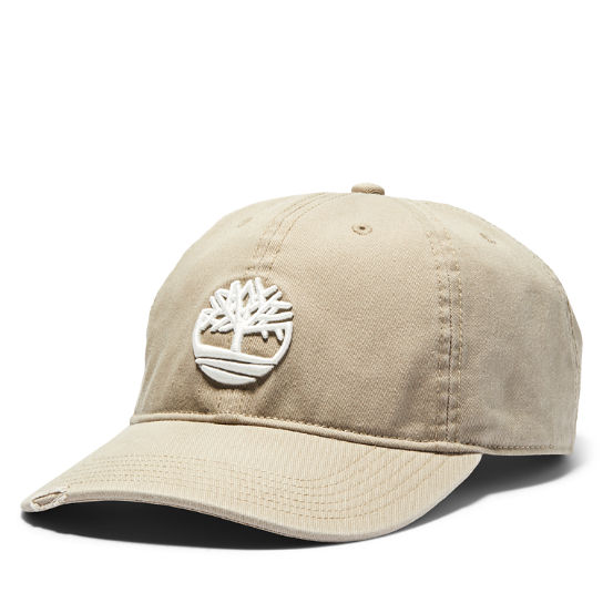 Tree Logo Baseball Cap for Men in Khaki | Timberland