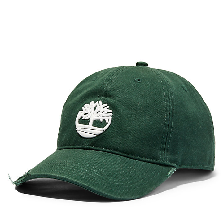 Tree Logo Baseball Cap for Men in Green-