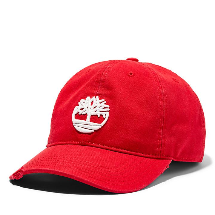 Gorra de Béisbol con Logotipo del Árbol para Hombre en rojo-
