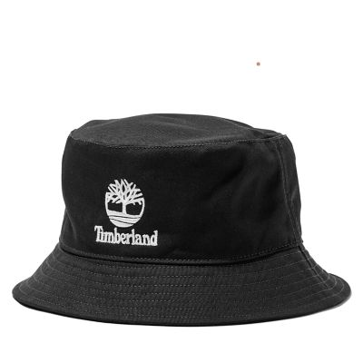 Embroidered+Logo+Bucket+Hat+in+Black