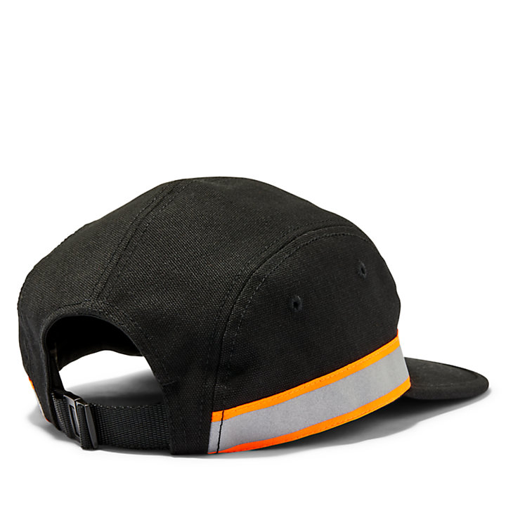 Reflective Admiral Cap for Men in Black-