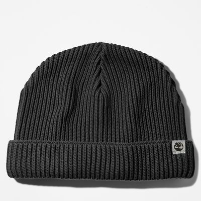 Cotton+Beanie+for+Men+in+Black
