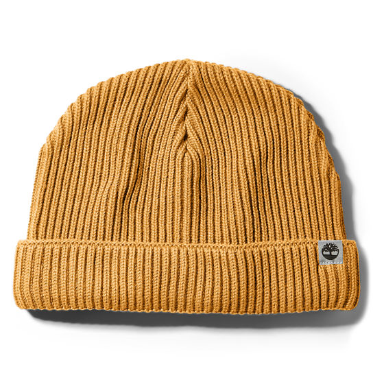 Cotton Beanie for Men in Yellow | Timberland