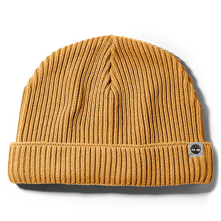 Baumwollmütze für Herren in Gelb-