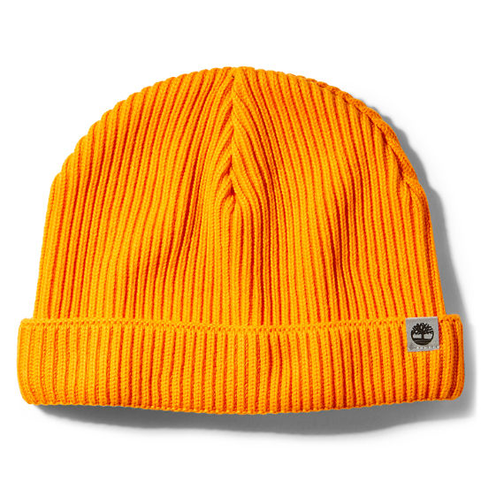 Cotton Beanie for Men in Orange | Timberland