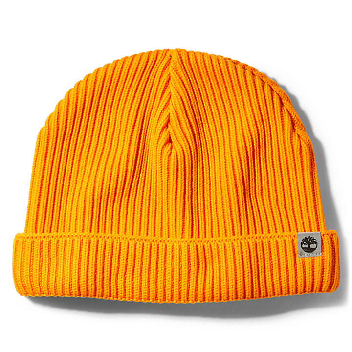 Cotton Beanie for Men in Orange-