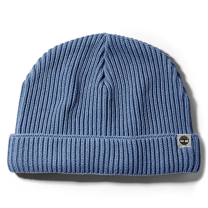Cotton Beanie for Men in Blue-