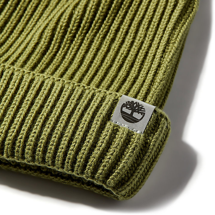 Cotton Beanie for Men in Green-