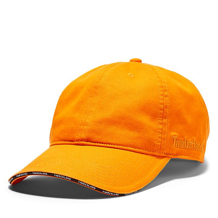 Gorra de Béisbol con Visera Laminada para Hombre en naranja-