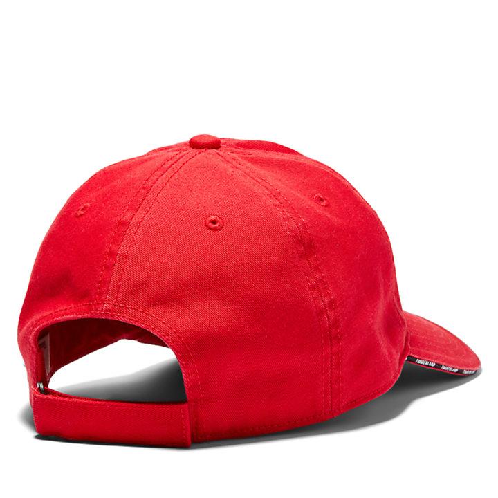 Casquette de baseball à visière courbée pour homme en rouge-