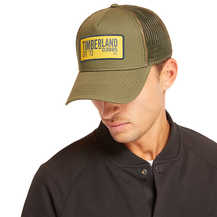 Trucker Cap for Men in Green-