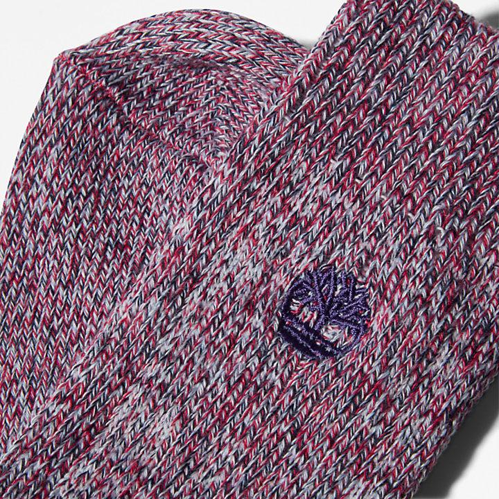 Ribbed Boot Socks for Women in Purple-