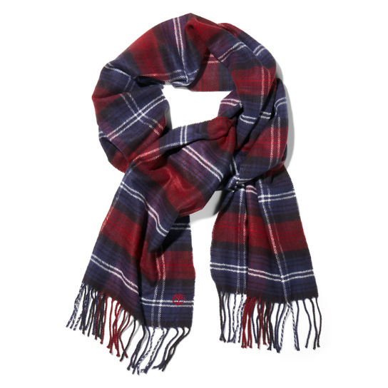Cedarbrook Scarf Gift Set for Men in Burgundy | Timberland