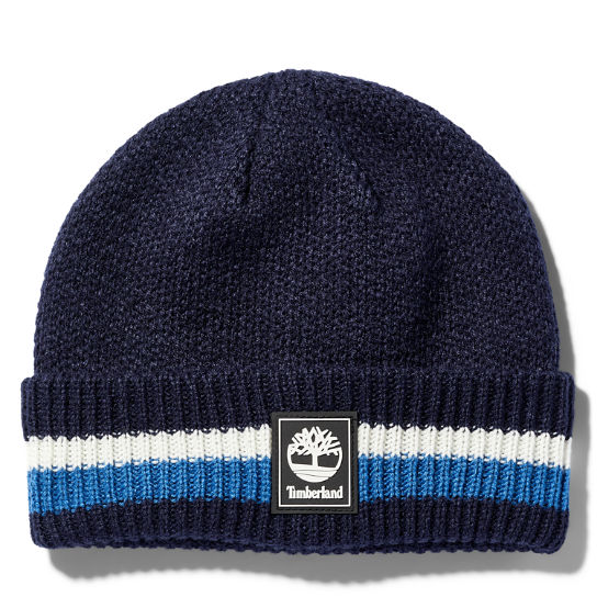 Striped Cuff Beanie for Men in Blue | Timberland