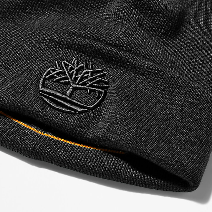 Newington Embroidered Beanie for Men in Black-