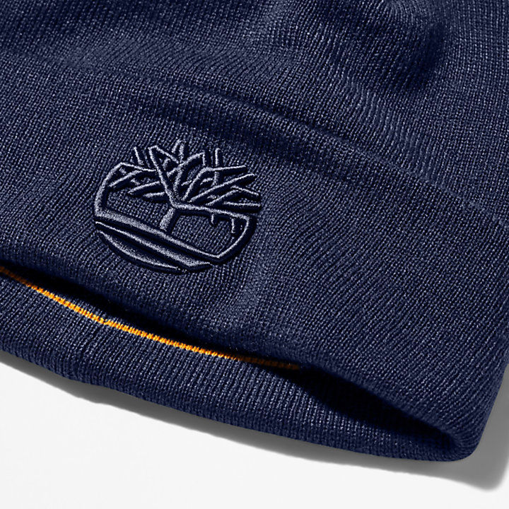 Newington Embroidered Beanie for Men in Navy-