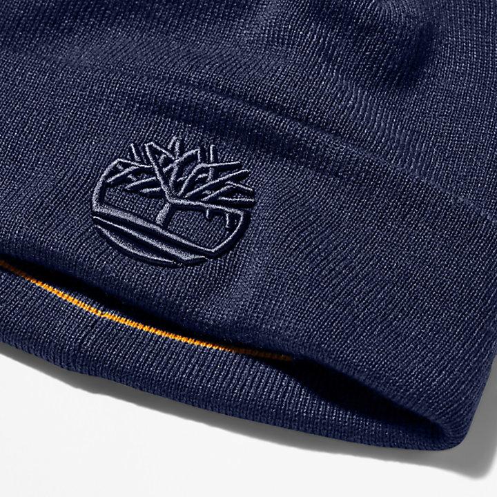 Bonnet brodé Newington pour homme en bleu marine-