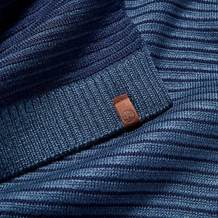 Coffret cadeau avec bonnet et écharpe d'hiver pour homme en bleu marine-