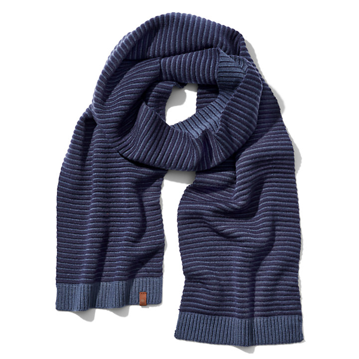 Winter Hat and Scarf Gift Set for Men in Navy-
