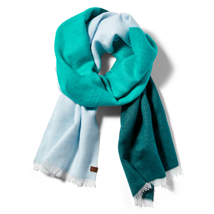 Colour-block Woven Scarf for Women in Blue-