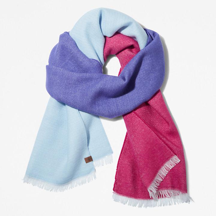 Sciarpa da Donna a Blocchi di Colore in blu chiaro-