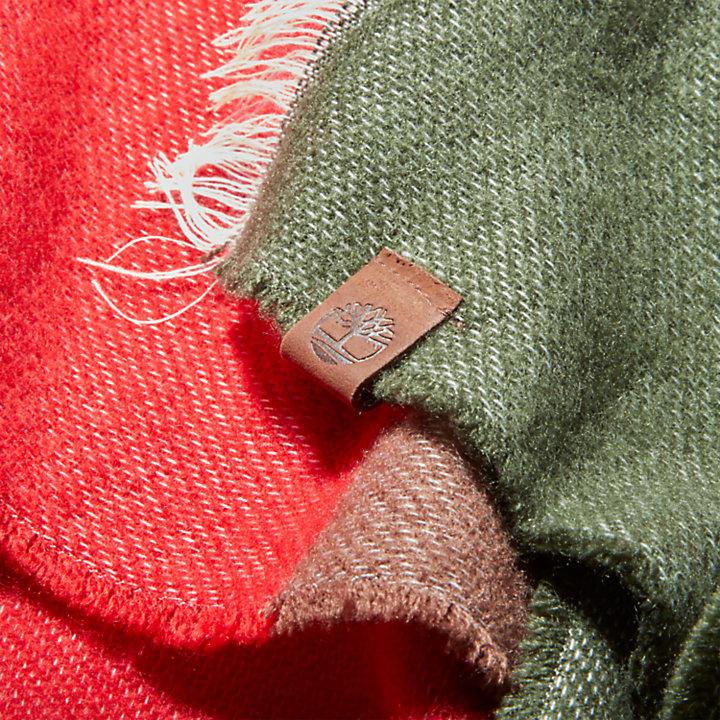 Sciarpa da Donna a Blocchi di Colore in verde scuro-