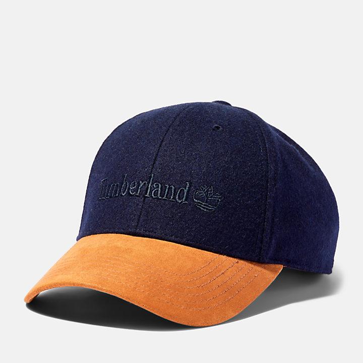 Baseballcap aus Wollmischgewebe für Herren in Navyblau-