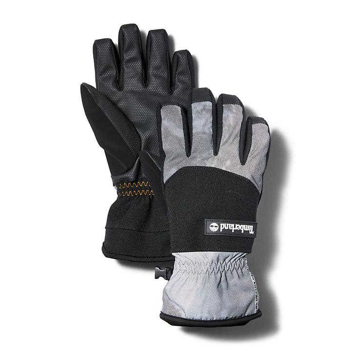 Sport Leisure Reflective Gloves for Men in Black-