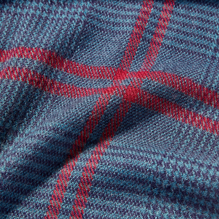 Glen Plaid Blanket Scarf for Men in Blue-