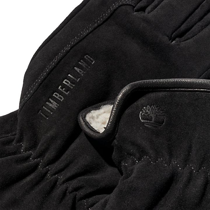 Utility Leather Gloves for Men in Black-