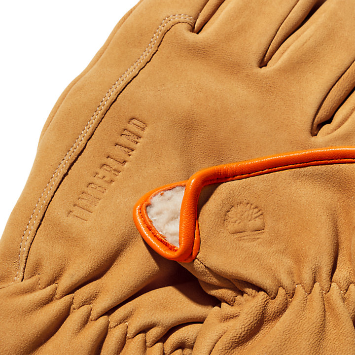 Lederhandschuhe im Utility-Stil für Herren in Gelb-