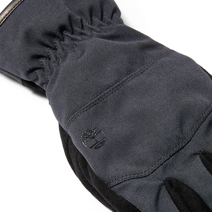 Leather Touch Screen Gloves for Men in Black-