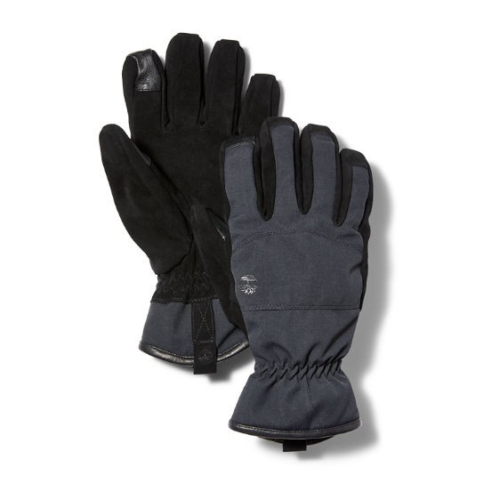Leather Touch Screen Gloves for Men in Black | Timberland
