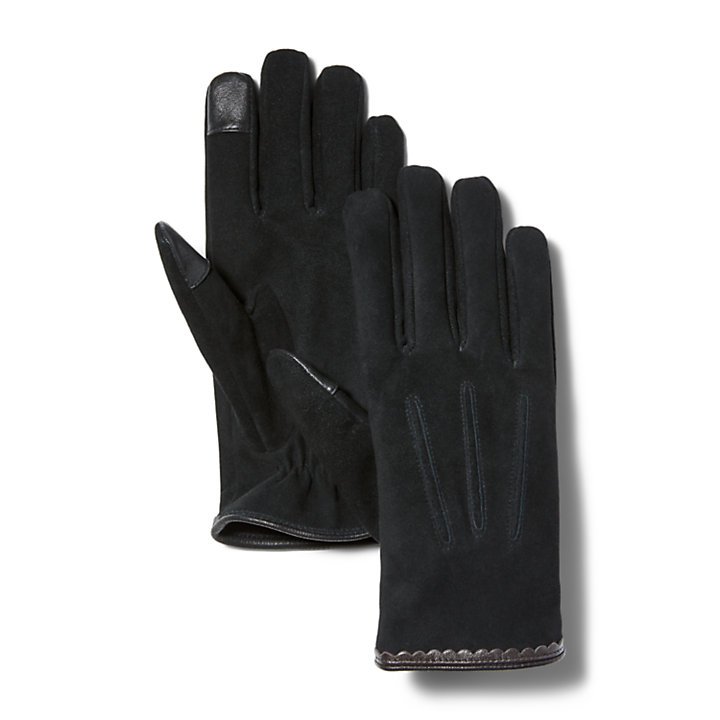 Classic Leather Gloves for Women in Black-