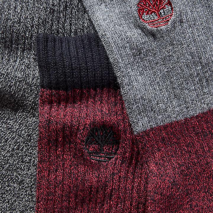 Coffret cadeau trois paires de chaussettes pour bottes pour homme en rouge/gris-