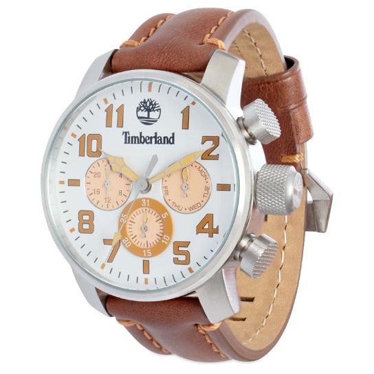 Mascoma Watch for Men in White/Light Brown | Timberland