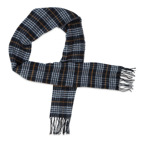 Men's Plaid Reversible Scarf Black/Grey | Timberland