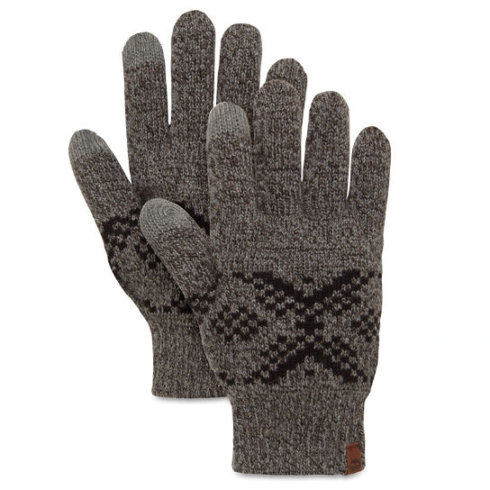 Fair Isle Gloves Charcoal | Timberland