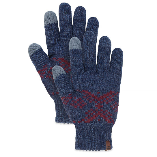 Men's Fair Isle Gloves Night Blue | Timberland