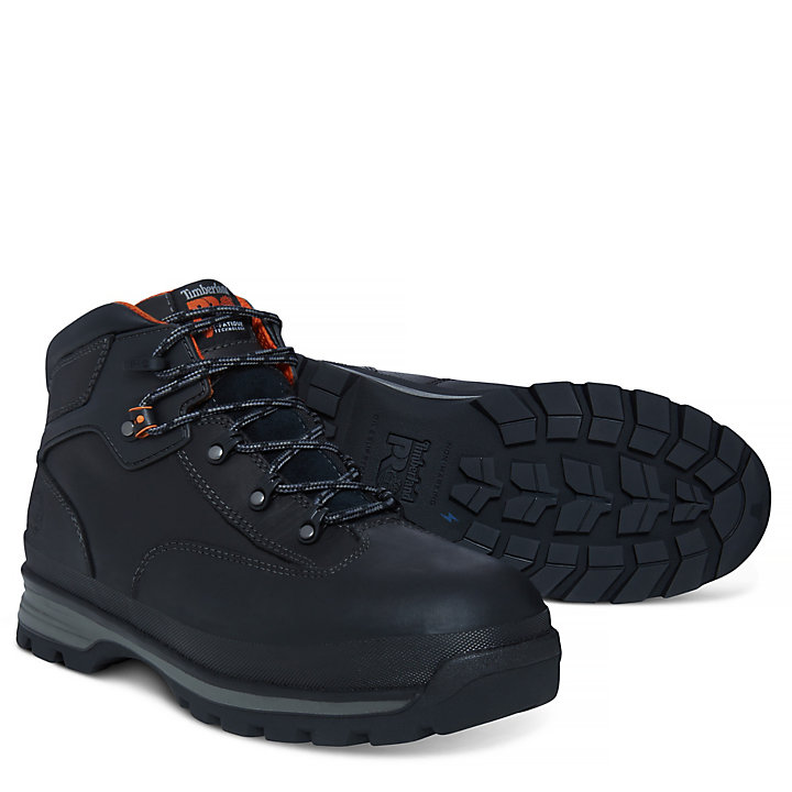 Men's Pro Euro Hiker Worker Boot Black-